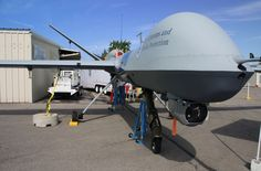 MQ9 Reaper: Unmanned Aerial Vehicle Front View