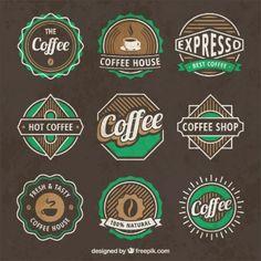 Logotipos de café Vintage                                                       …