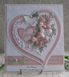 pinner pins Good morning friends and visitors.My card today using this pretty Rose Heart by Yvonne Creations. This Rose Heart shape cuts out and leaves the negative behind.I cut a Tattered Unique and Beautiful Valentine Cards - decorismeMakin Making Greeting Cards, Greeting Cards Handmade, Mothers Day Cards, Valentine Day Cards, Pretty Cards, Love Cards, Wedding Cards Handmade, Engagement Cards, Wedding Anniversary Cards