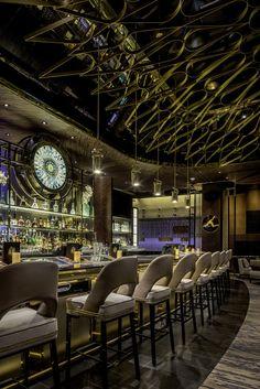 ALIBI Restaurant and Cocktail Lounge at ARIA Resort & Casino in Las Vegas designed by Munge Leung
