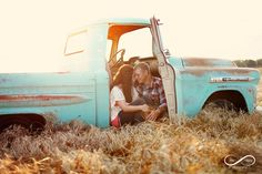 wheat field, engagement, sunset, stay forever photography, plaid, boots, lace, country engagement, sweet love, vintage truck, chevy truck,