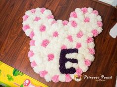 Minnie Mouse Pom Pom Rug #minniemouse #pompomrug #pompom #PomPomRugs