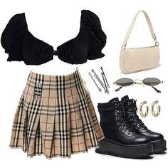 Cute Teen Outfits, Edgy Outfits, Retro Outfits, Classy Outfits, Beautiful Outfits, Cool Outfits, Egirl Fashion, Kpop Fashion Outfits, Polyvore Outfits