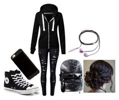"""Thinking About Running Away..."" by sagereadings on Polyvore featuring Converse and Nicole Miller"