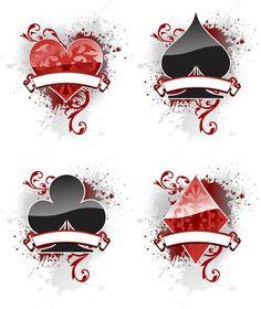 wonderland spade club heart diamond tattoo - Google Search