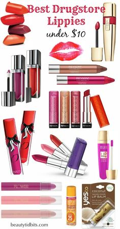 Best Drugstore Lip Products under $10 via @beautytidbits