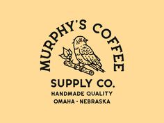 Murphy's Coffee by Nikita Maslov on Dribbble   Handcrafted Goods.    badge branding hand drawn logo logotype typography vintage