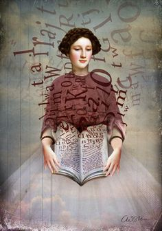 """The Storybook"" Picture by Catrin Welz-Stein posters, art prints, canvas prints, greeting cards or gallery prints. Find more Picture art prints and posters in the ARTFLAKES shop. Reading Art, Woman Reading, Canvas Wall Art, Wall Art Prints, Canvas Prints, Framed Prints, Illustrations, Illustration Art, William Turner"