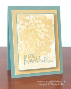 Definitely Dahlia, Watercolor Wash, Remarkable You, Stampin' Up!, Brian King
