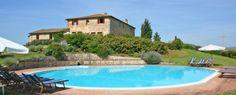 Appartementen op een agriturismo met panoramisch uitzicht, bij Siena, Toscane