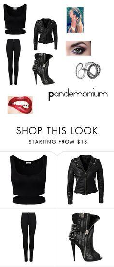 """Pandemonium"" by lcann29500 ❤ liked on Polyvore featuring Noisy May, MuuBaa, M&S and Giuseppe Zanotti"