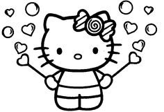 Image result for hello kitty colouring pages