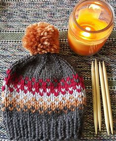 Make this beautiful hat with one of our featured yarns this month: Wool-Ease Thick & Quick! Save 20% through 10/31/15! Get the knit pattern now on Ravelry.