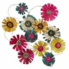 Sunny Day Flower Garland, Ten Thousand Villages #FairTrade #Handmade