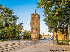 Der Plauer Torturm einer der noch verbliebenen Türme der Altstadt.