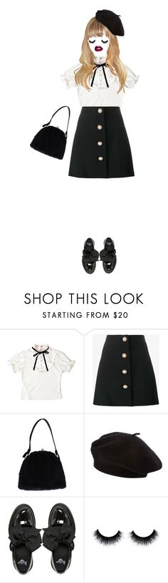 """hush hush"" by pinkiecore ❤ liked on Polyvore featuring Miu Miu, Dolce&Gabbana and Dr. Martens"