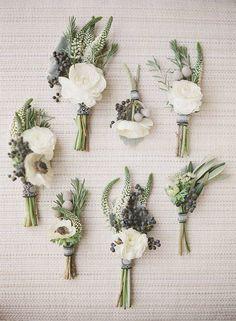 Bouquet de fleurs blanches pour invités