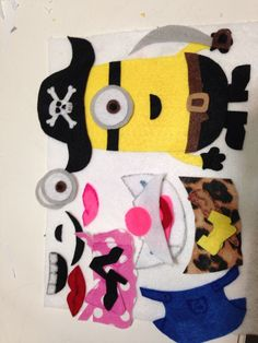 Minion felt page for quiet book