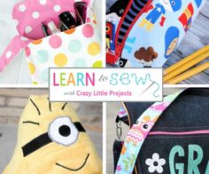 Learn to Sew Archives - Crazy Little Projects