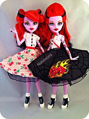 Seeing Double (Nataloons) Tags: music fashion monster high opera doll dress handmade rockabilly etsy phantom scar mattel operetta monsterhigh ghouliascloset