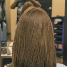 Hair color. Light brown.