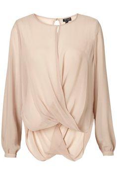 drape front blouse / topshop