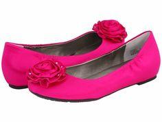 flat wedding shoes fuchsia