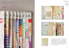 .fanned and numbered pages
