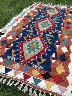 VENTA Kilim lana alfombra Vintage turcas alfombras pequeñas