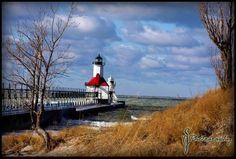 St Joseph Lighthouse on Lake Michigan