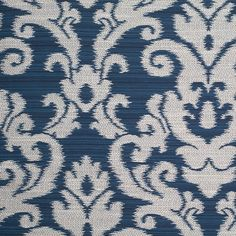 Sapphire Blue Damask Woven Blend Fabric by the Yard | Mood Fabrics