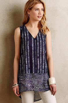 Batik Tunic #anthropologie I like this print/cut but this one is too long... would love the same idea, but shorter