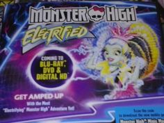 Its An All New Monster High Movie : Monster High Electrified. Coming To DVD & Blu - Ray