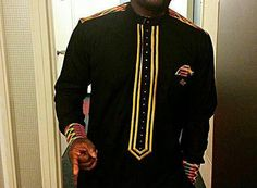 embroided african shirt/ African men's shirt/ by PageGermanyShop
