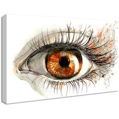 NuCasa Orange Eye Design Canvas Print ($43) ❤ liked on Polyvore featuring home, home decor, wall art, art, backgrounds, filler, modern home accessories, modern wall art, modern home decor and orange wall art