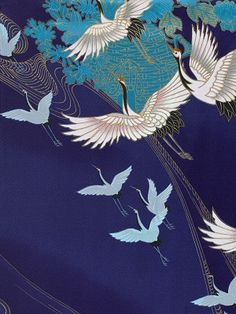 Kimono fabric ~Via Gaijin Crafter http://www.thekimonocompany.co.uk/acatalog/popup_craneswirl_royal.jpg