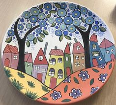 Kunst Picasso, Picasso Art, Pottery Painting Designs, Pottery Art, Ceramic Painting, Ceramic Art, Painted Rocks, Hand Painted, Handmade Wall Clocks