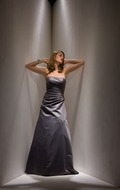 2015 Sleeveless Satin Zipper Strapless Floor Length A-line Mother of the Bride Dresses MBD0090