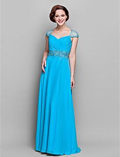 Sheath/Column V-neck Chiffon Mother of the Bride Dress (5514... – USD $ 179.99