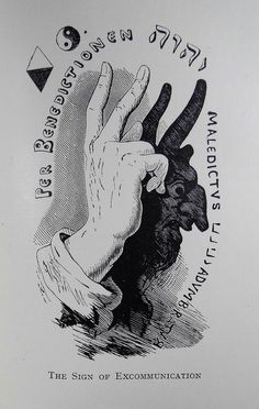 Full page illustration of a hand in benediction gesture, facing page 32 of Transcendental Magic. The three fingers repre Natur Tattoo Arm, Manos Tattoo, Triangle Symbol, Medieval Drawings, Hand Shadows, Giger Art, Alchemy Art, Hand Symbols, Occult Art