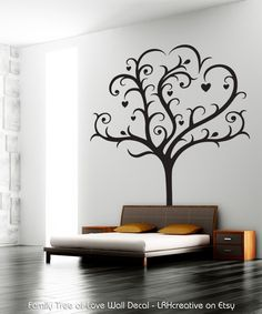 Wall Decal - Family Tree of Love - now available on Etsy.