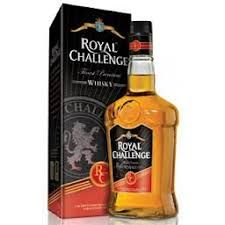 ROYAL CHALLENGE INDIAN WHISKEY: Royal Challenge is amongst the largest selling premium whisky brands in India with a rich heritage of innovation and unsurpassable quality. For over 28 years, Royal Challenge has won the hearts of whisky drinkers across the nation since its inception in the 80s.  Appearance, antique gold. Nose, an amazingly smooth whiskey, the secret of its velvet-like texture lies in the use of leisurely matured malt and grain spirit.