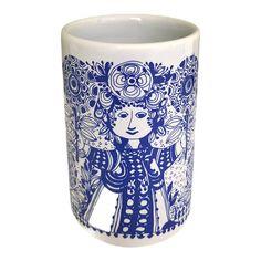 Whimsical Fashion, Danish Modern, Ceramic Vase, 1970s, Flora, Stamp, Ceramics, Treasure Hunting, Art