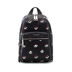 Marc Jacobs Embellished Tulip Leather Backpack (3696025 PYG) ❤ liked on Polyvore featuring bags, backpacks, handbags, backpack bags, knapsack bag, marc jacobs knapsack, genuine leather bags and leather knapsack