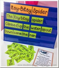 Spiders Unit- includes math centers and activities that go along with the Itsy Bitsy Spider poem!