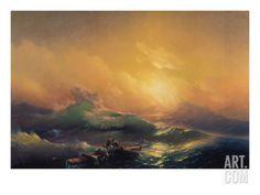 size: Giclee Print: Konstantinovich Ivan Aiwassowskij Wall Art by Konstantinovich Ivan Aiwassowskij : Artists Wave Art, Art Prints For Sale, Frames On Wall, Printing Process, Framed Artwork, Find Art, Giclee Print, Waves, Poster