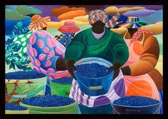Ivey Hayes Art Work      BLUEBERRY GATHERERS