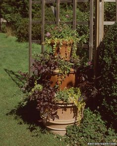 """See the """"Stacked Pots"""" in our 60 Great Ideas for the Garden gallery"""
