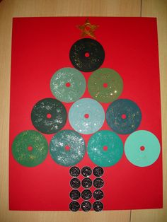 Arbre de nadal amb CD i nespresso