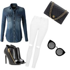 A fashion look from September 2015 featuring LE3NO tops, Topshop jeans and Tom Ford ankle booties. Browse and shop related looks.